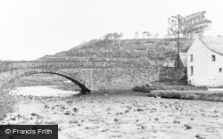 Fishguard, Lower Town Bridge And River c.1960