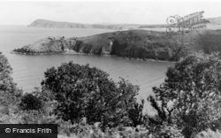 Fishguard, Old Fort From Marine Walk c.1950