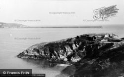 Fishguard, The Harbour And Old Fort c.1960