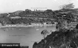 Fishguard, The Harbour, Lower Town And Coast Road c.1955