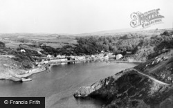 Fishguard, The Lower Town Harbour c.1950