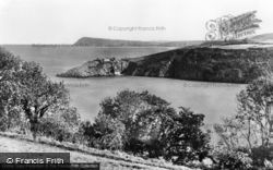 Fishguard, The Old Fort And Dinas Head c.1955