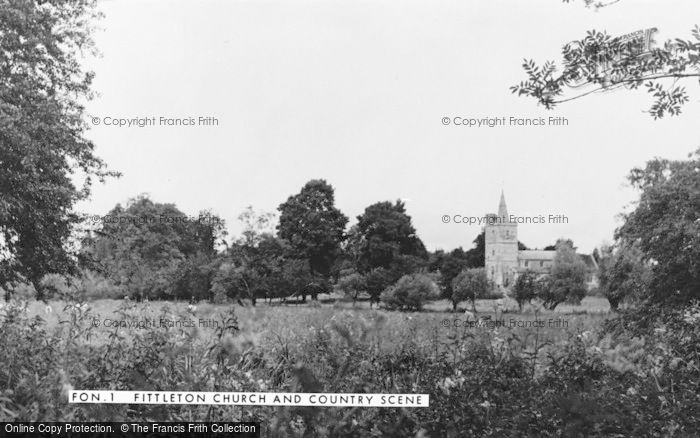 Photo of Fittleton, Church Of All Saints And Country Scene c.1955