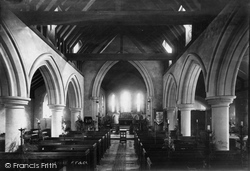 Fittleworth, St Mary's Church Interior 1898