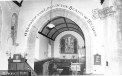 Fivehead, St Martin's Church, Interior c.1955