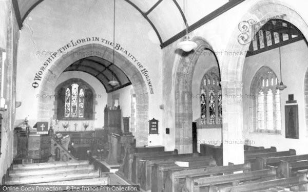 Photo of Fivehead, St Martin's Church, Interior c.1955