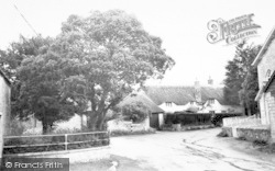 Fivehead, Thatched Cottage c.1960