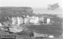 Flamborough, Adam Rock, Low Tide Silex Bay c.1932