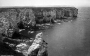 Flamborough, Head, The Cliffs c.1885