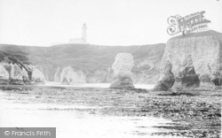 Flamborough, Silex Bay And The Lighthouse c.1870