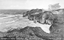 Flamborough, Silex Bay, Rough Sea c.1938