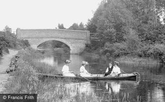 Fleet, Boating on the Basingstoke Canal 1908
