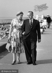 Fleetwood, Couple, Rossall Beach c.1958