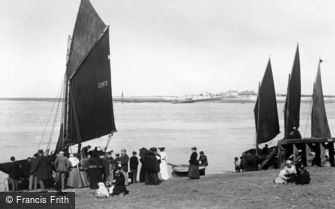 Fleetwood, Excursion Boats and Knott End Ferry 1901