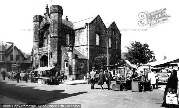 Flint, Town Hall and Market c1965