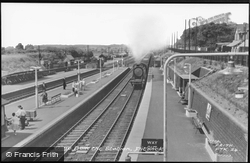 Station And Steam Train c.1960, Flitwick