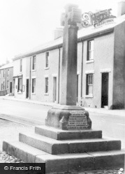 Flookburgh, Market Cross c.1955