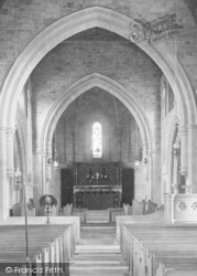 Flookburgh, The Church, Nave And Altar 1901