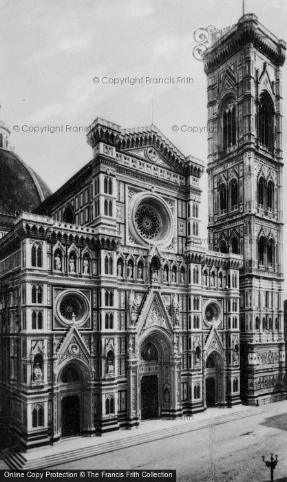 Photo of Florence, Cathedral And Giotto's Bell Tower c.1910