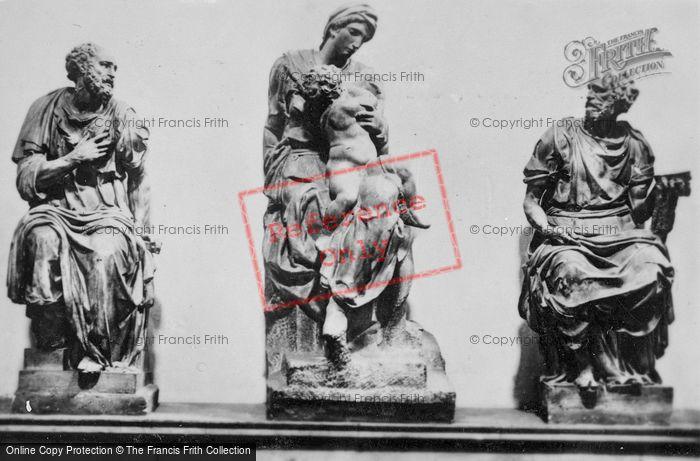 Photo of Florence, Medici Chapel, New Sacristy, Three Statues c.1910