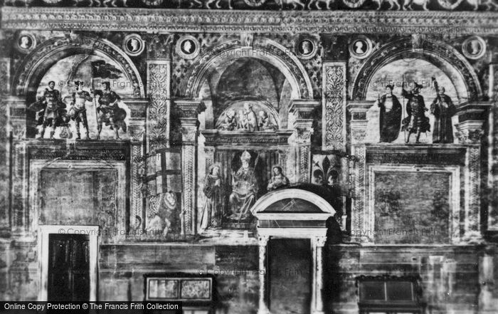 Photo of Florence, Palazzo Vecchio, Hall Of Lilies, Frescoes c.1910