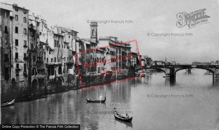 Photo of Florence, The Arno And Ponte Santa Trinita c.1910