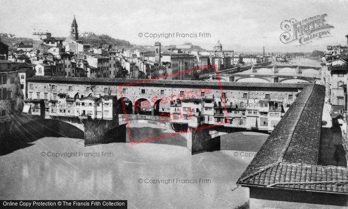 Photo of Florence, The Arno And Three Bridges c.1910