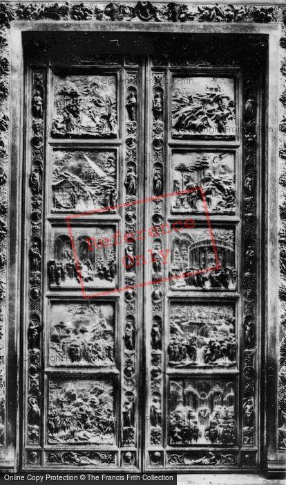 Photo of Florence, The Baptistry, Gates Of Paradise c.1910