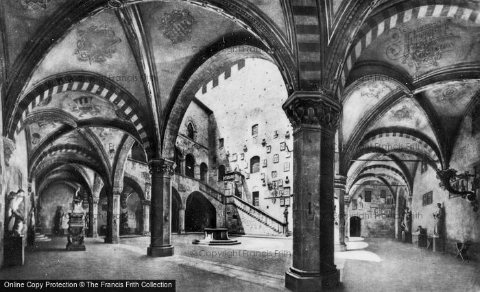 Photo of Florence, The Bargello, Courtyard And Staircase c.1910