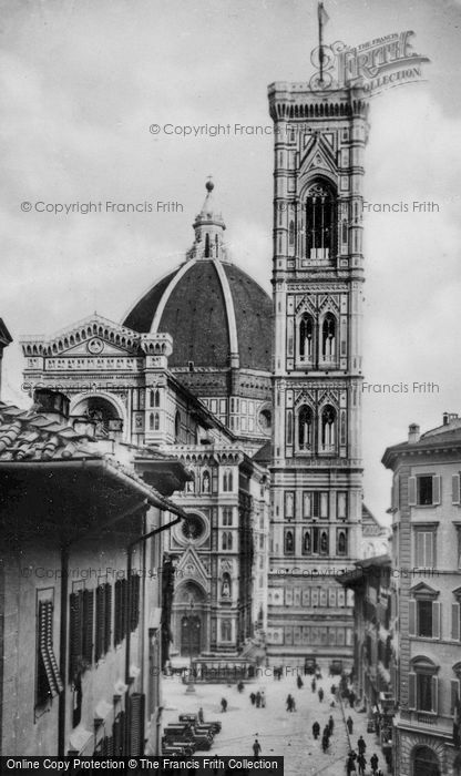 Photo of Florence, The Duomo And Giotto's Bell Tower c.1910