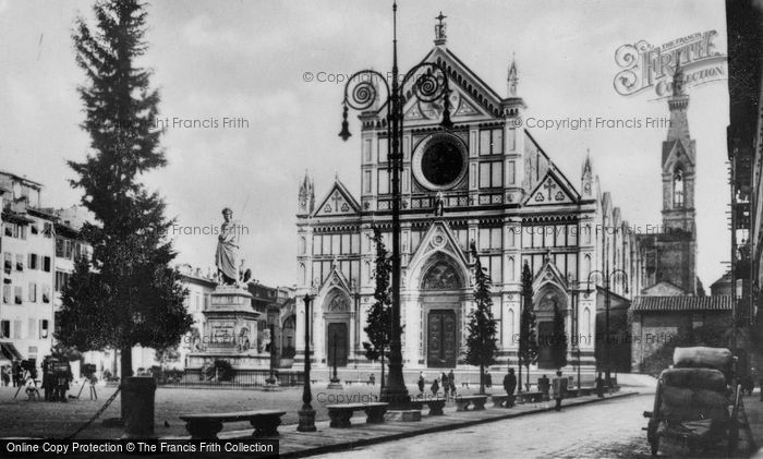 Photo of Florence, The Square And Basilica Of Santa Croce c.1910