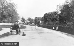 Approach To Village And Wilson Memorial Fountain c.1900, Fochabers