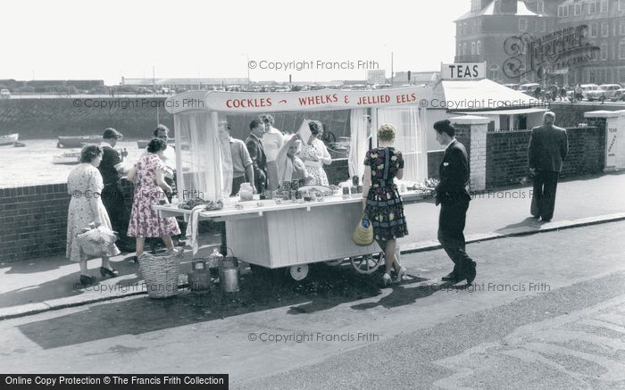 Photo of Folkestone, Cockles And Whelks Stall c.1960
