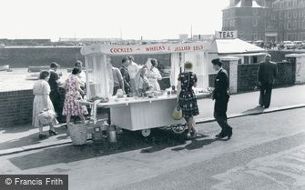 Folkestone, Cockles and Whelks Stall c1960