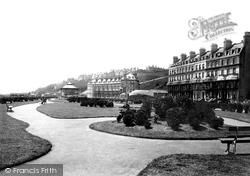 Marine Crescent And Gardens 1895, Folkestone