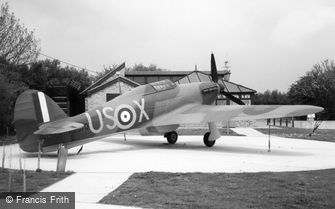 Folkestone, plane at the Battle of Britain Memorial 2004