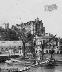 Shangri La Looms Over The Harbour 1912, Folkestone