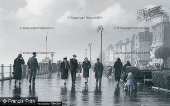 Folkestone, The Leas after the storm c1940