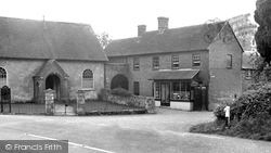 Post Office And Chapel c.1955, Fontmell Magna