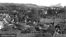View From Church Tower c.1955, Fontmell Magna