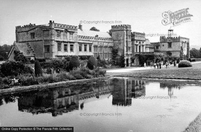Photo of Forde Abbey, Across The Long Pond c.1955