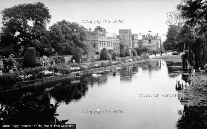 Photo of Forde Abbey, From The Long Pond c.1955