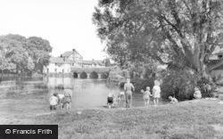 Fordingbridge, River Avon From Recreation Ground c.1955