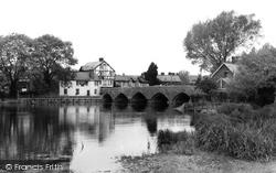 Fordingbridge, The River And Bridge c.1960