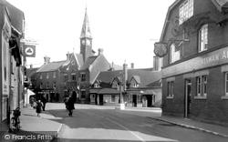 Fordingbridge, Town Hall And High Street c.1950