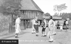 Fordwich, Morris Dancers, Town Hall c.1955