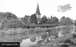 Fordwich, The Church From The River c.1955