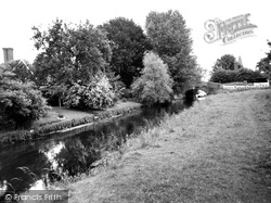 Fordwich, The River Stour And Bridge c.1955