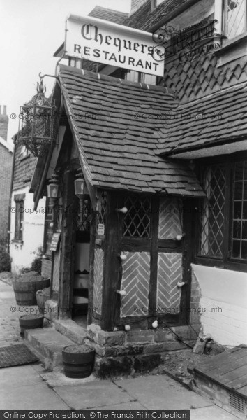 Photo of Forest Row, Chequers Restaurant c.1965