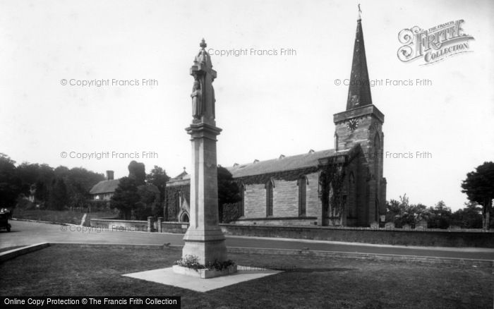 Photo of Forest Row, Holy Trinity Church And War Memorial 1925